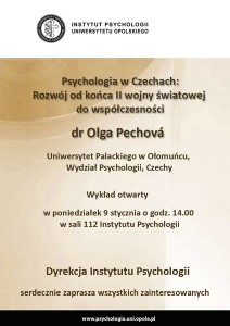 Olga Pechova - wykład otwarty