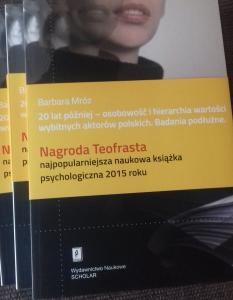 20 lat później – osobowość i hierarchia wartości wybitnych aktorów polskich